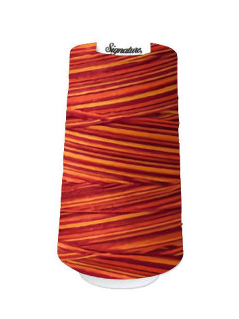 Signature40 - Poppy Blaze - F257 - Cone - 3000 Yds - 100% Variegated Cotton Quilting Thread