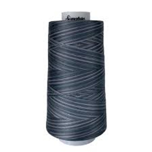 Signature40 - Smokey Blues - M81 - Cone - 3000 Yds - 100% Variegated Cotton Quilting Thread