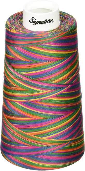 Signature40 - Tie Dye - M11 - Cone - 3000 Yds - 100% Variegated Cotton Quilting Thread