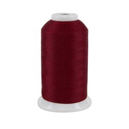 So Fine! #50 - 413 - Scarlet - Cone - 3280 yds - 3-ply Polyester Lint-free Quilting Thread