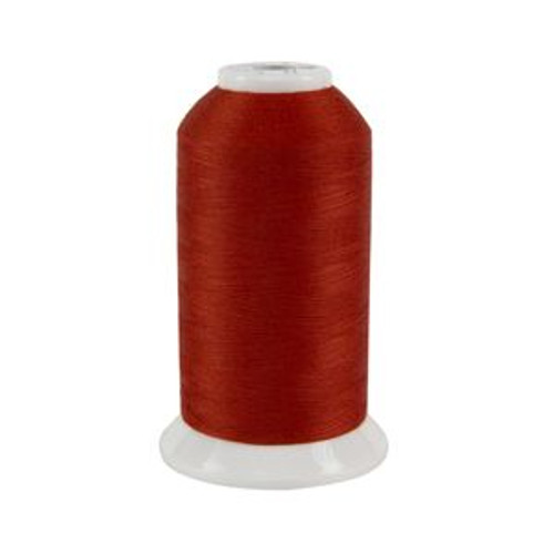 So Fine! #50 - 498 - Indian Paintbrush - Cone - 3280 yds - 3-ply Polyester Lint-free Quilting Thread