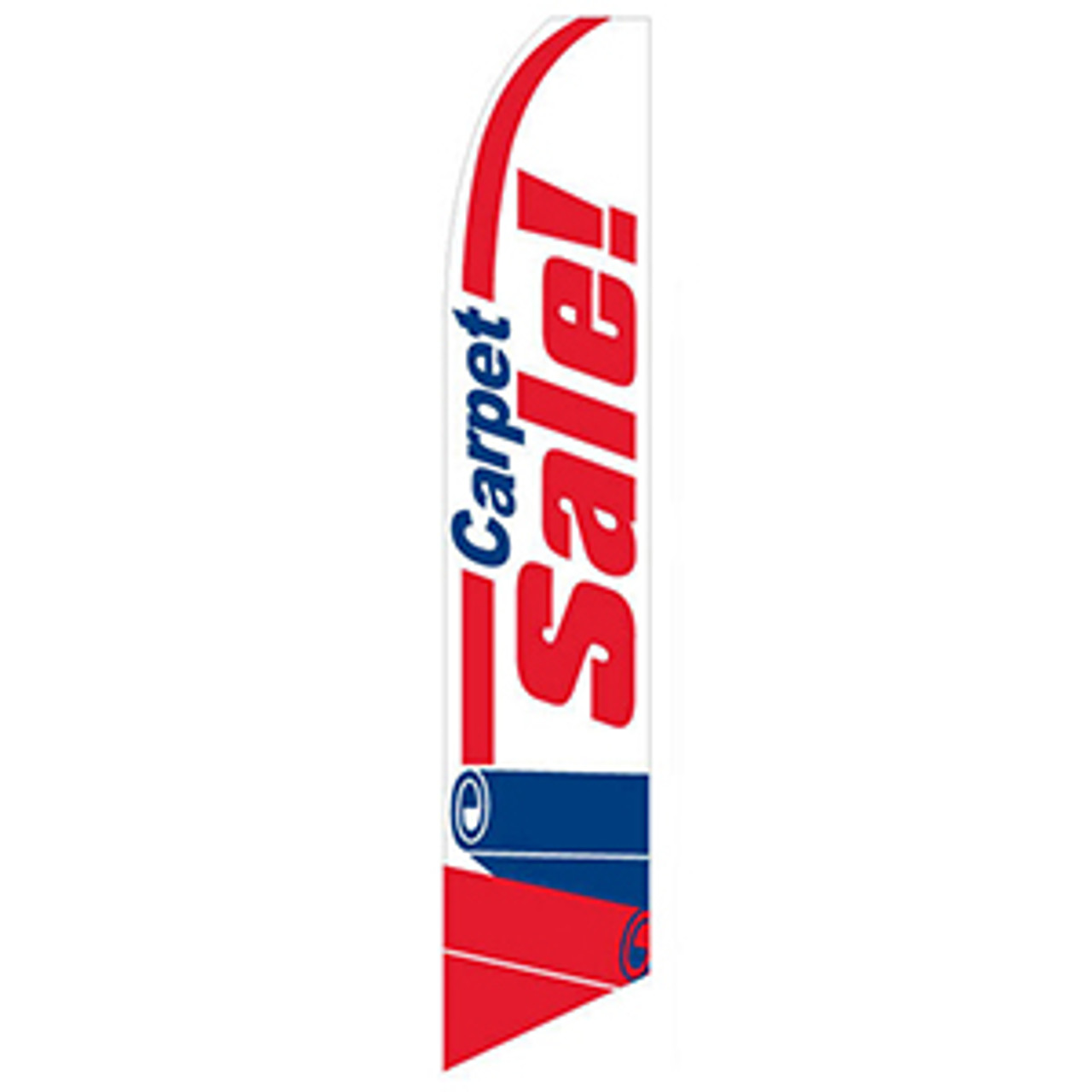 Carpet Sale Feather Flag Red White
