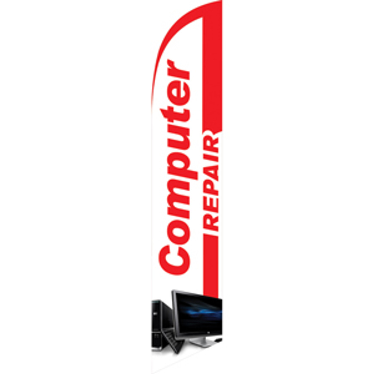White Managers Special Red Blue Windless Banner Advertising Marketing Flag