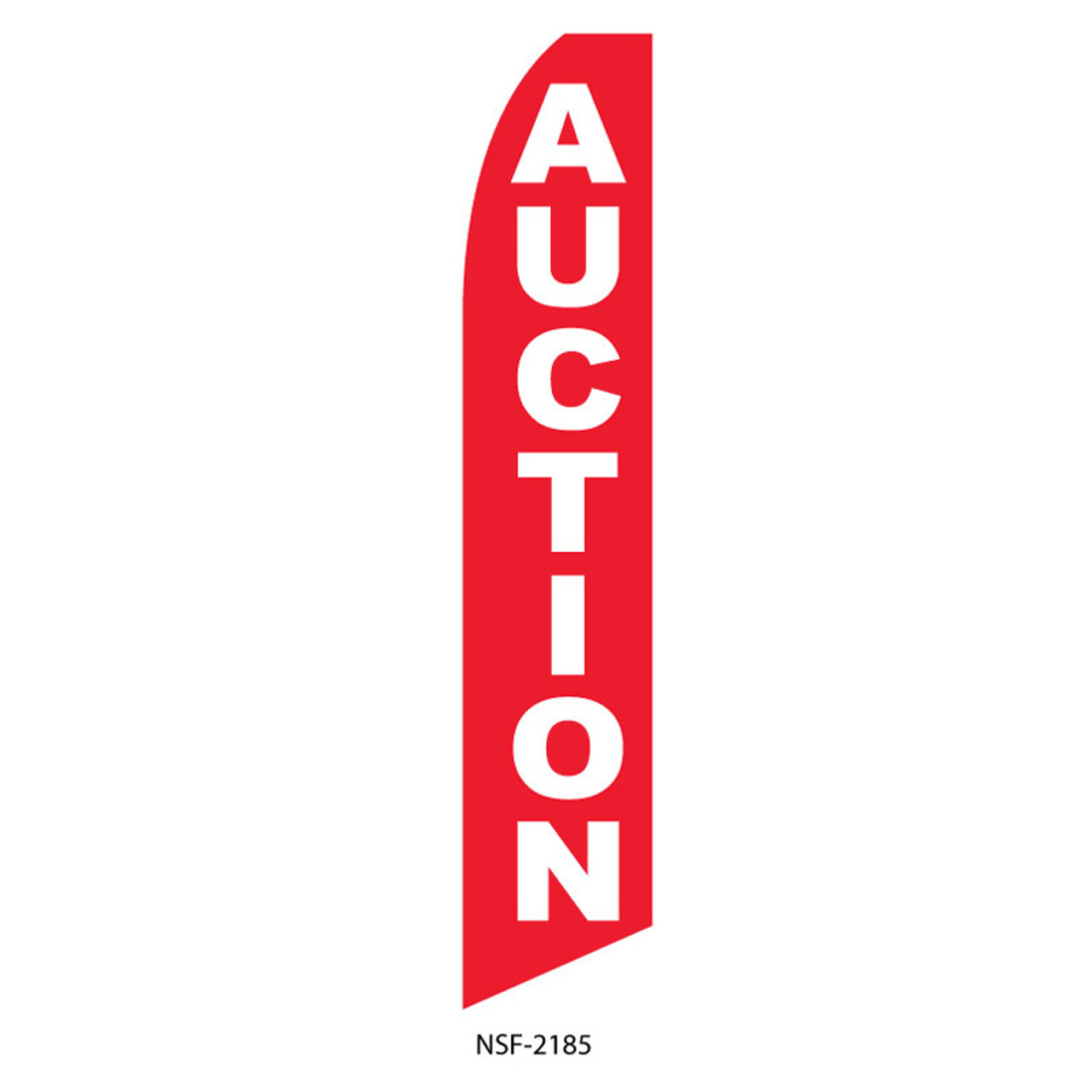 Auction Feather Flag (red)