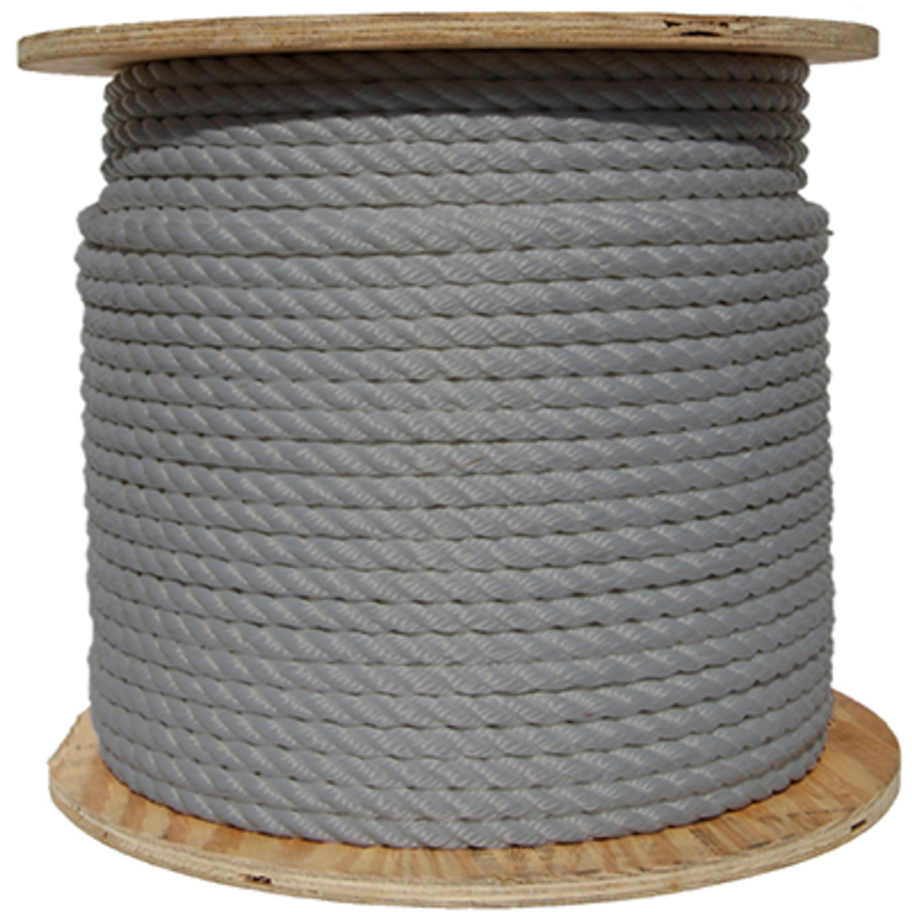 Gray/Silver Wire Center Rope Spool