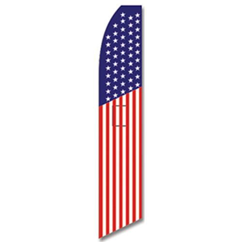 American Flag Feather Flag Patriotic
