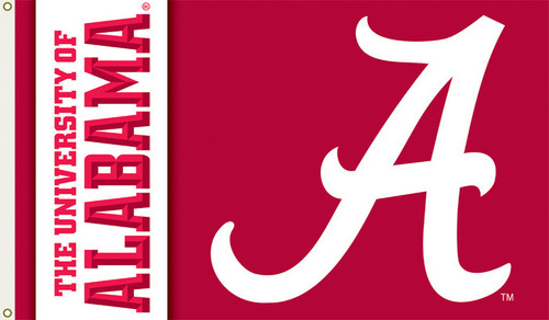 "Alabama ""Script A"" Printed 3' x 5' Flag"