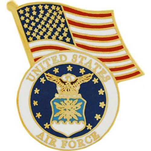 Air Force / U.S. Flag lapel pin #2