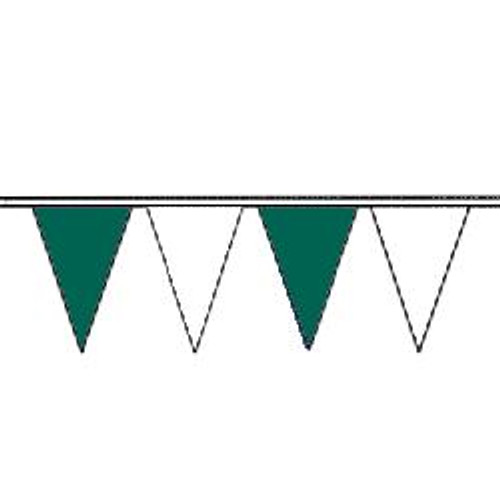 Green and White String Pennant