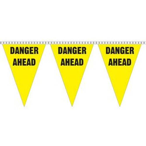 """Danger Ahead"" String Pennants"