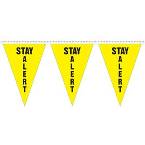 """Stay Alert"" String Pennants"