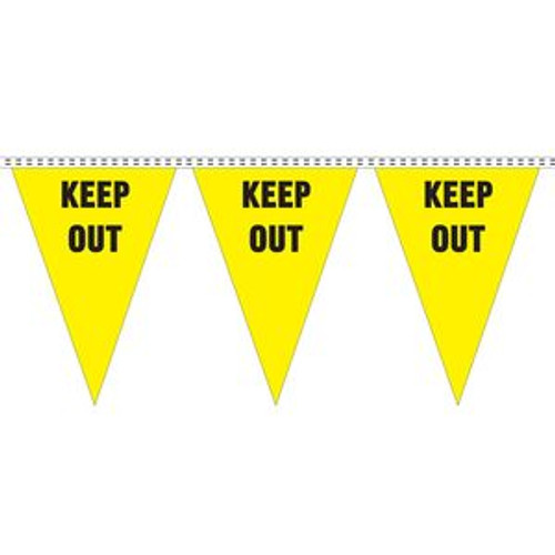 """Keep Out"" String Pennants"