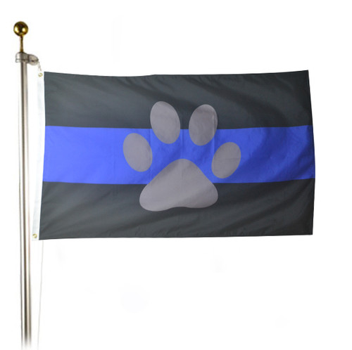 K-9 Thin Blue Line Flag