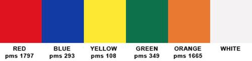 Alternating Colors String Pennants - Heavy Duty