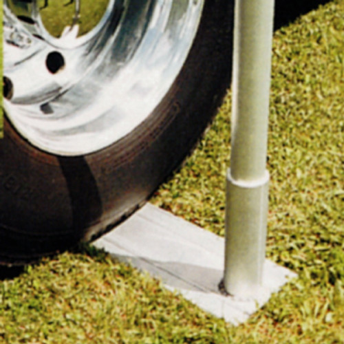 Aluminum Telescoping Flagpole Tire Mount - Medium