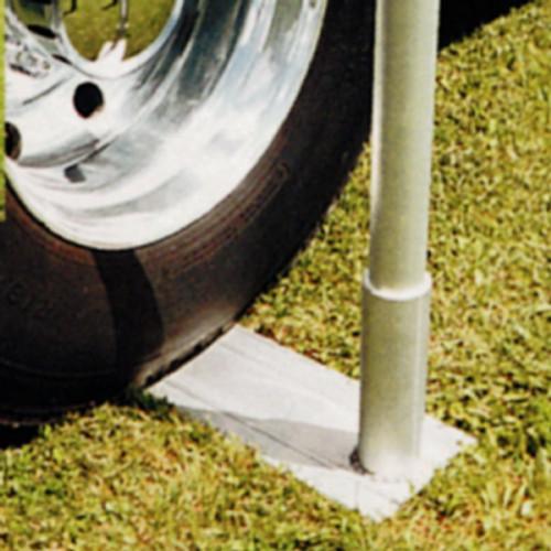 Aluminum Tire Mount for Telescoping Flagpole - Large