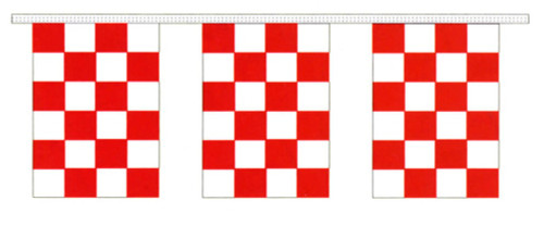 Red and White Checkered Pennants