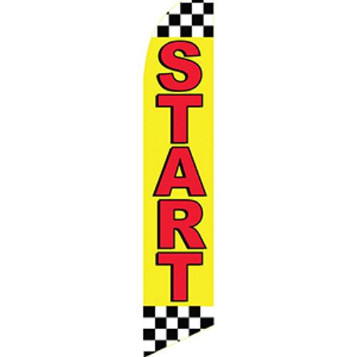 """Start"" Feather Flag"