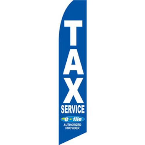 Blue Tax Service E-File Feather Flag