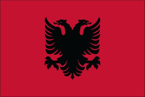 "Albania - 4"" x 6"" Minature Stick Flags"