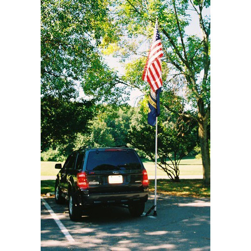 Fiberglass Tailgating Flagpole Set 16 foot