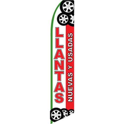 Llantas Nuevas Y Usadas - Feather Flag