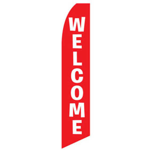 Welcome Feather Flag (Red)