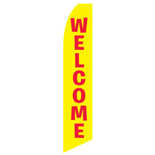 Yellow Welcome Feather Flag