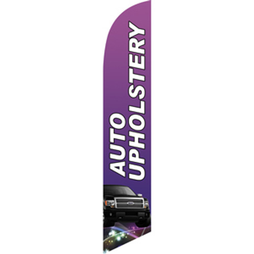 Auto Upholstery (purple) Semi Custom Feather Flag Kit