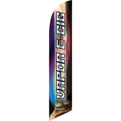 Vapor E-Cig (silver letters) Semi Custom Feather Flag Kit