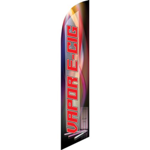Vapor E-Cig (red letters) Semi Custom Feather Flag Kit
