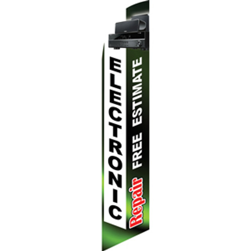 Electronic Repair (white/green) Semi Custom Feather Flag Kit
