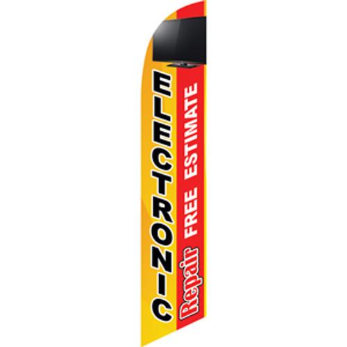 Electronic Repair (yellow/red) Semi Custom Feather Flag Kit