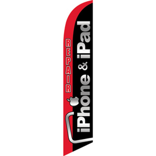 iPhone & iPad Repair (red/black) Semi Custom Feather Flag Kit