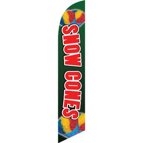 Snow Cones (green background) Semi Custom Feather Flag Kit