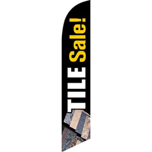 Tile Sale (White Letters) Semi Custom Feather Flag Kit