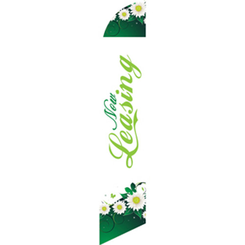 Now Leasing (green letters) Semi Custom Feather Flag Kit