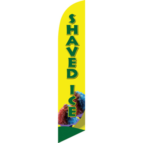 Shaved Ice (green letters) Semi Custom Feather Flag Kit