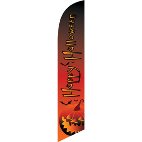 Happy Halloween (orange letters with black outline) Semi Custom Feather Flag Kit