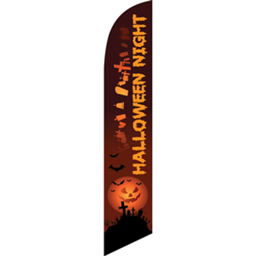 Halloween Night (tombstones) Semi Custom Feather Flag Kit