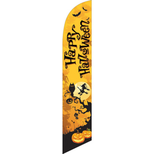 Happy Halloween (yellow background) Semi Custom Feather Flag Kit