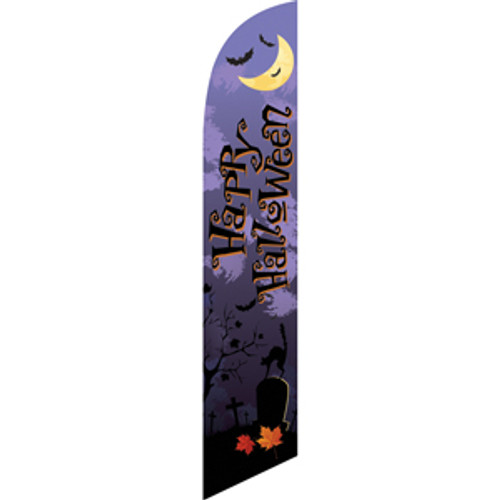 Happy Halloween (purple background) Semi Custom Feather Flag Kit