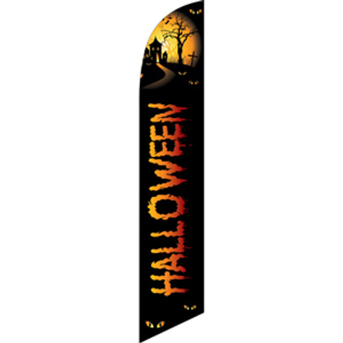 Halloween (orange-yellow letters) Semi Custom Feather Flag Kit