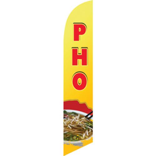 Pho (yellow background) Semi Custom Feather Flag Kit