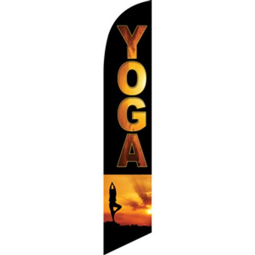 Yoga (black background, yoga practitioner) Semi Custom Feather Flag Kit