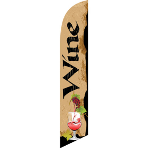 Wine (beige background) Semi Custom Feather Flag Kit