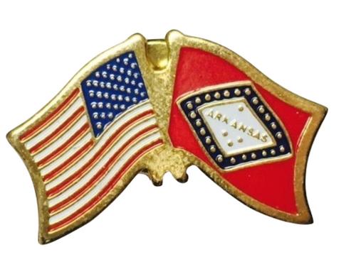 Arkansas / US Lapel Pin