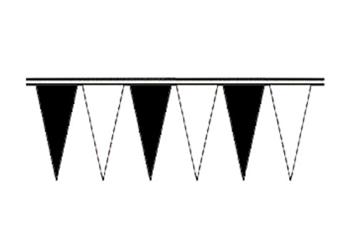 Black and White Economy Icicle Pennants 4 mil