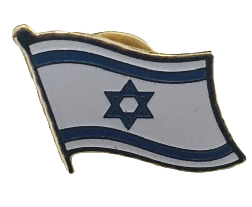 Israel Flag Wavy Lapel Pin