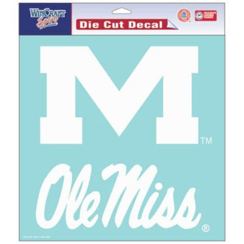 Ole Miss Decal (white)
